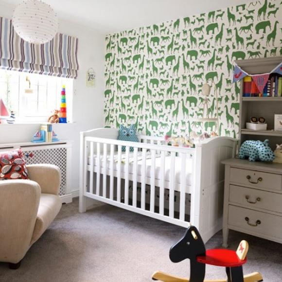 Papier peint pour la chambre de b b blogd co com for Quand preparer la chambre de bebe